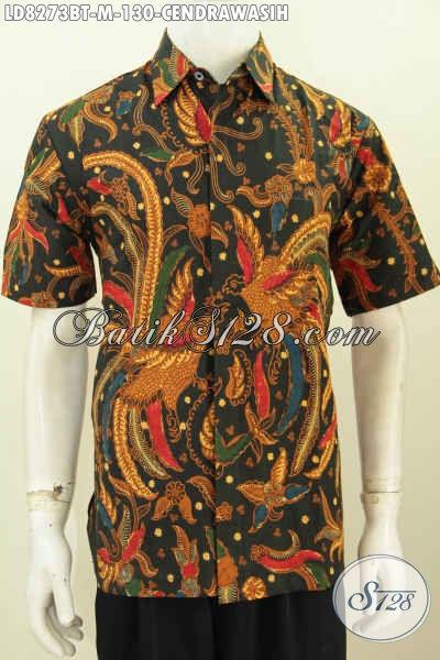 Hem Batik Elegan Motif Burung Cendrawasih, Baju Batik Berkelas Proses Kombinasi Tulis Untuk Pria Muda Terlihat Berwibawa [LD8273BT-M]