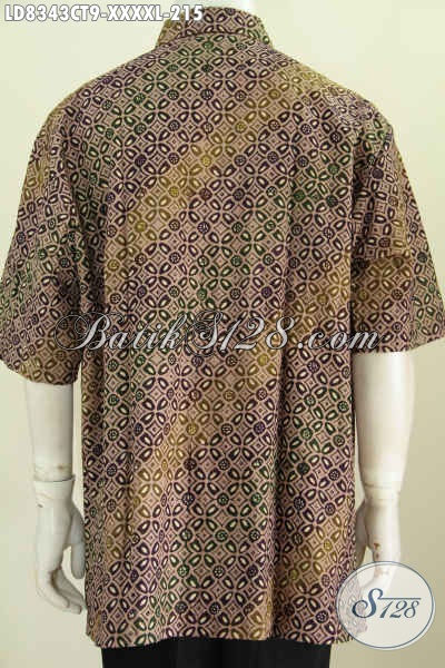 Batik Hem Elegan Mewah Halus Proses Cap Tulis Size XXXXL Model Lengan Pendek Harga 215K