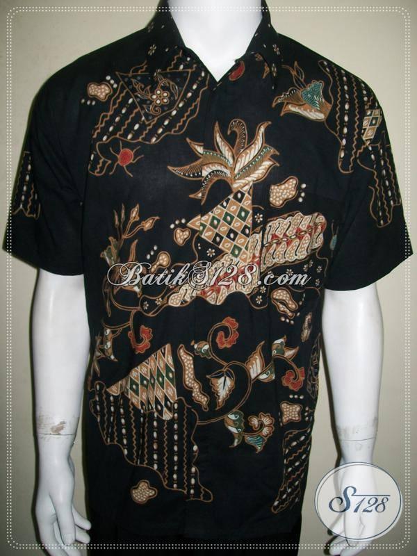 Baju Batik Tulis Pria Modern Lengan Pendek Keren Gan !