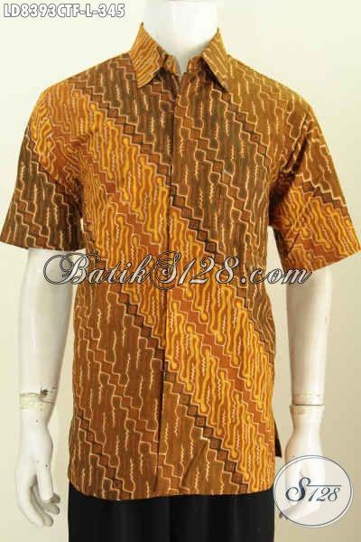 Hem Batik Klasik Solo Cap Tulis Baju Batik Buat Pria