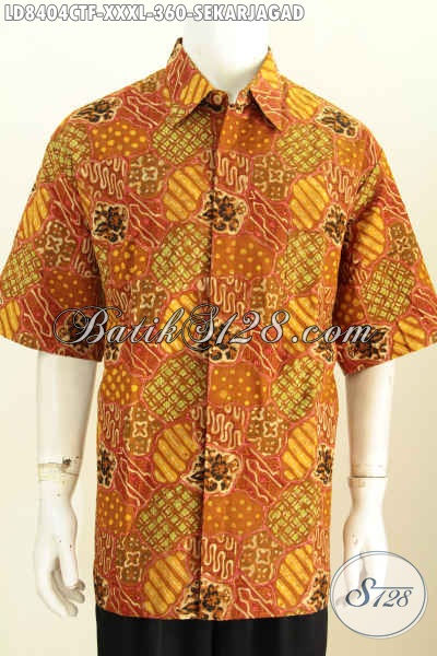 Batik Hem Super Jumbo Baju Batik Elegan Halus Full Furing Motif Klasik Harga 360K, Size XXXL