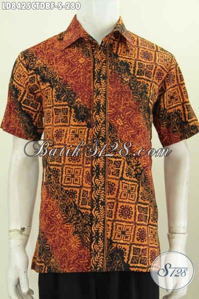 Baju Batik Pria Exclusive, Pakaian Batik Istimewa Buat Lelaki Masa Kini Tampil Gagah Dan Berkelas Hanya 280K [LD8425CTDBF-S]