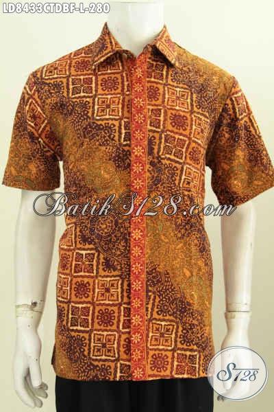 Jual Baju Batik Pria Halus, Kemeja Batik Istimewa Yang Bikin Pria Tampil Gagah Mempesona Harga 280K [LD8433CTDBF-L]