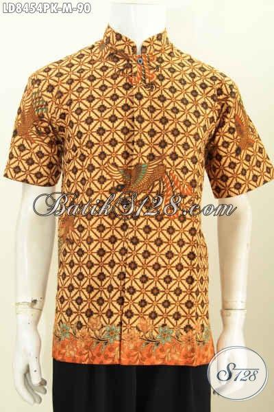 Baju Batik Pria Kombinasi Modern Model Kerah Shanghai 6999be7ee6