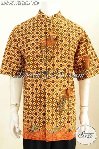 Kemeja Batik Jumbo Baju Batik Lengan Pendek Pria Gemuk
