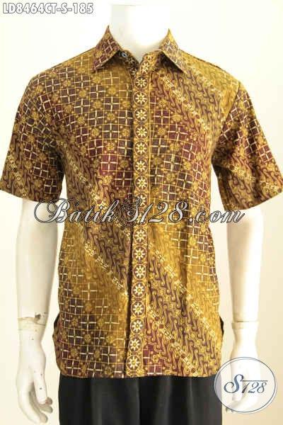 Baju Kemeja Batik Untuk Pria Muda, Hem Batik Lengan Pendek Halus Kwalitas Istimewa Prose4s Cap Tulis, Tampil Lebih Gagah [LD8464CT-S]