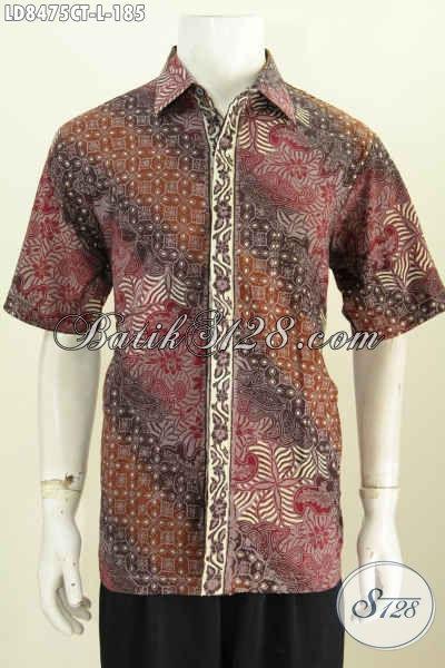 Contoh Desain Baju Batik Pria 2017, Hem Batik Modis Keren Berkelas Tampil Lebih Gagah Dan Trendy Bahan Katun Motif Proses Cap Tulis [LD8475CT-L]
