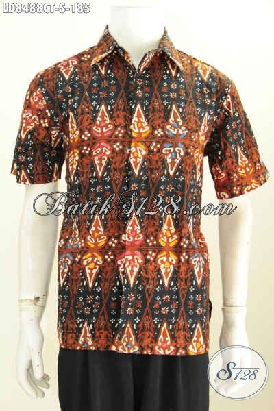 Foto Baju Batik Pria Terbaru Buatan Solo Hem Batik Trendy