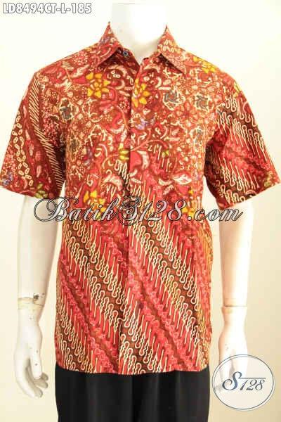 Grosir Eceran Baju Batik Pria Terkini Hem Batik Lengan Pendek