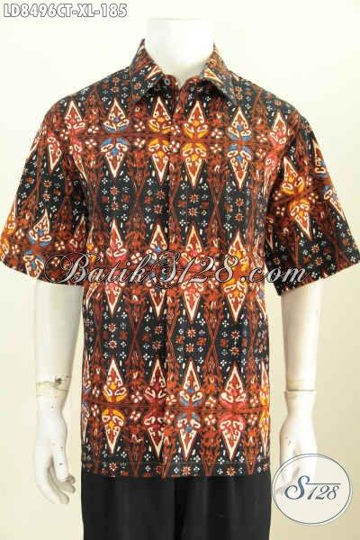 Jual Grosir Eceran Baju Batik Pria Modern, Hem Batik Keren Motif Terbaru Buatan Solo Proses Cap Tulis, Cocok Buat Ke Kantor Dan Acara Resmi [LD8496CT-XL]
