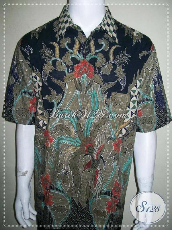 Batik Pria Mewah Eksklusif, Batik Tulis Mahal Lengan Pendek Cocok Untuk Hadiah