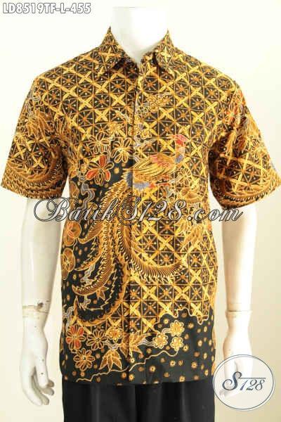 Koleksi Baju Batik Pria Body Fit Hem Batik Gaul Motif