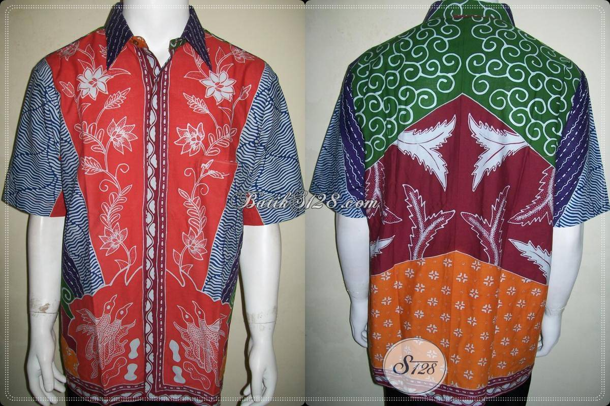 Baju Batik Tulis Motif Sinaran Matahari / Milo Size XL