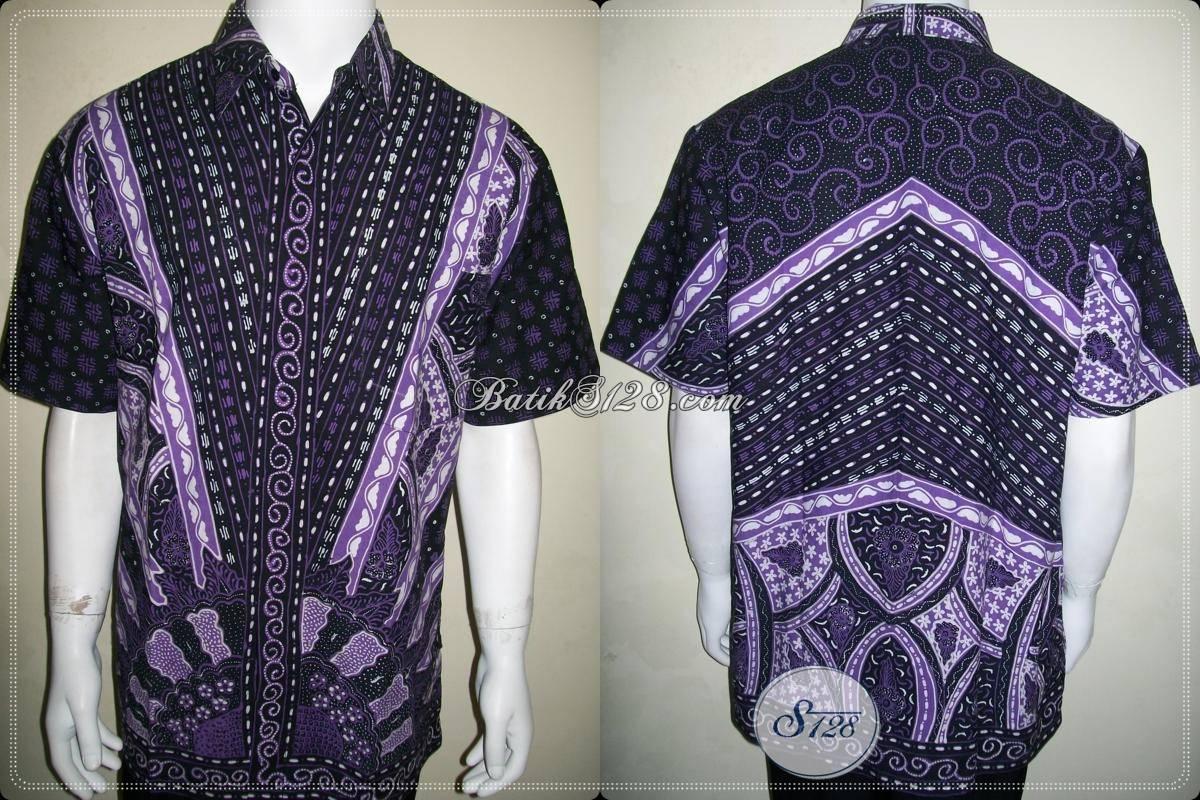 Baju Batik Pria Modern Lengan Pendek Ukuran Xl Untuk