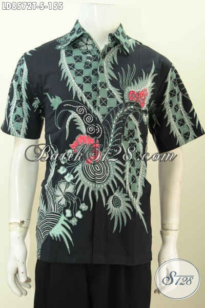 Jual Kemeja Batik Solo Istimewa, Pakaian Batik Jawa Etnik Lengan Pendek Motif Keren Proses Tulis 100 Ribuan Saja, Size S