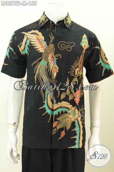 Koleksi Terkini Baju Batik Casual Untuk Pria Tampil Keren Dan Tampan, Hem Batik Lengan Pendek Motif Trendy Proses Tulis Hanya 100 Ribuan [LD8575T-M]