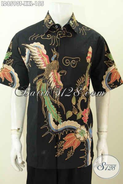 Model Pakaian Batik Lelaki Gemuk Terbaru, Hadir Dengan Desain Trendy Motif Keren Untuk Menunjang Penampilan Lebih Menawan [LD8590T-XXL]