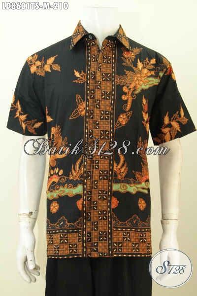 Desain Pakaian Batik Cowok 2017, Hadir Dengan Tampil Lebih Rapi Modis Motif Unik Proses Tulis Soga, Baju Lengan Pendek Cocok Buat Santai Serta Resmi [LD8601TS-M]