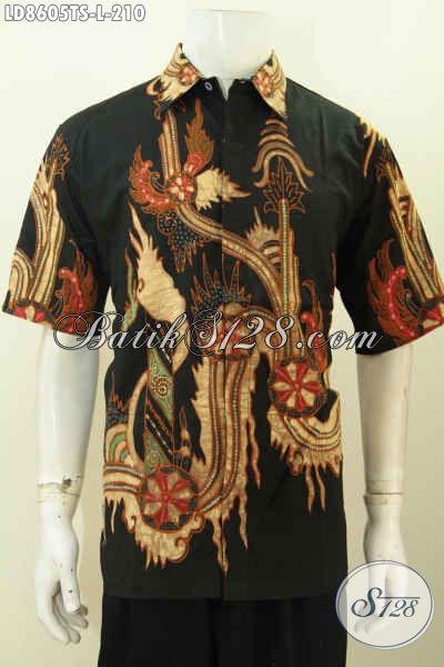 Baju Batik Pria Keren Hem Batik Solo Lengan Pendek Untuk