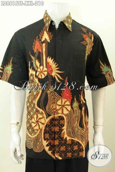 Sedia Pakaian Batik Pria Gemuk, Baju Batik Pria Ukuran Besar Bahan Halus Motifd Keren Tulis Soga Di Jual Online 210K [LD8616TS-XXL]