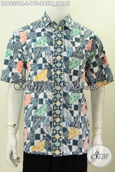 Baju Batik Pria Motif Flower