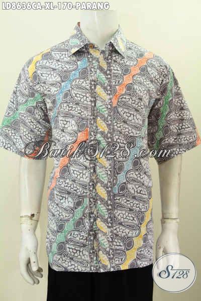 Baju Batik Pria Lengan Pendek Model Terbaru