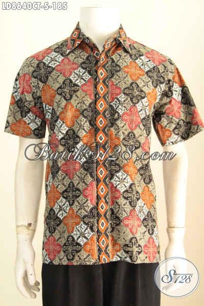 Aneka Baju Batik Pria, Hem Lengan Pendek Keren Motif Bagus Bahan Adem Desain Trendy Untuk Penampilan Lebih Gagah [LD8640CT-S]