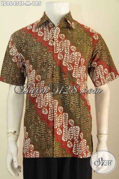 Baju Batik Atasan Pria Terkini Hem Batik Halus Lengan