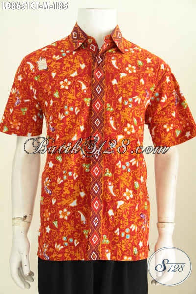 Batik Hem Keren Buatan Solo, Baju Batik Keren Untuk Santai Dan Modis Untuk Seragam Kerja, Hadir Dengan Desain Terbaru Harga 185K [LD8651CT-M]