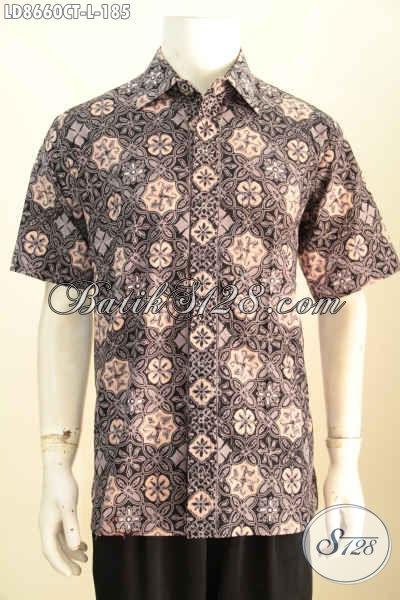 Toko Busana Batik Paling Up To Date, Sedia Kemeja Batik Halus Motif Klasik Cap Tulis Harga 185K, Pas Banget Buat Ke Kantor, Size L