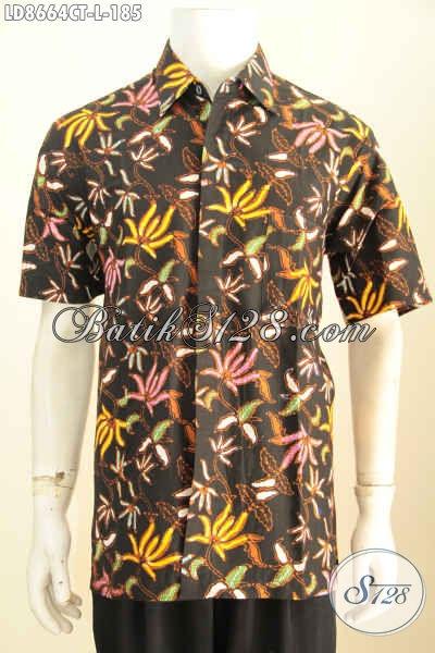 Batik Hem Cap Tulis, Kemeja Lengan Pendek Keren Motif Unik, Pakaian Batik Santai Lelaki Hanya 185K, Size L