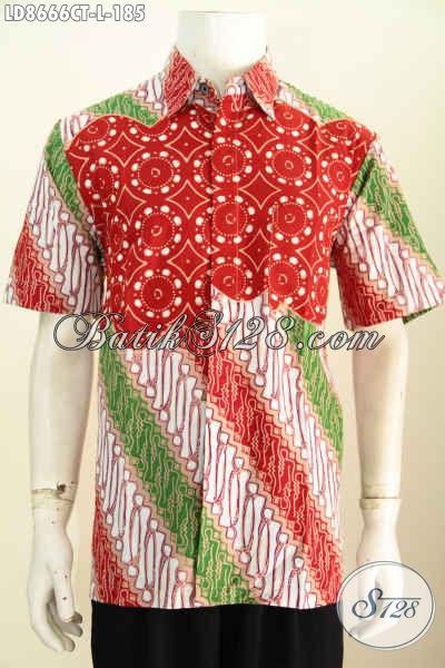 Baju Batik Modern Untuk Pria Muda Dan Dewasa, Kemeja Batik Gaul Motif Unik Cap Tulis, Penampilan Makin Keren Dan Bergaya Hanya 100 Ribuan [LD8666CT-L]