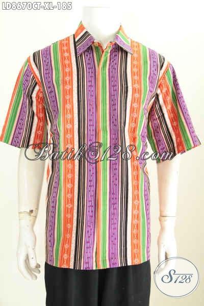Model Baju Batik Pria Kombinasi 2019 Kemeja Batik Terbaru Model