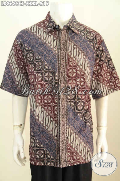 Batik Hem Big Size Lengan Pendek Bahan Adem Motif Klasik Buatan Solo Proses Cap Tulis Harga 215K [LD8683CT-XXXL]