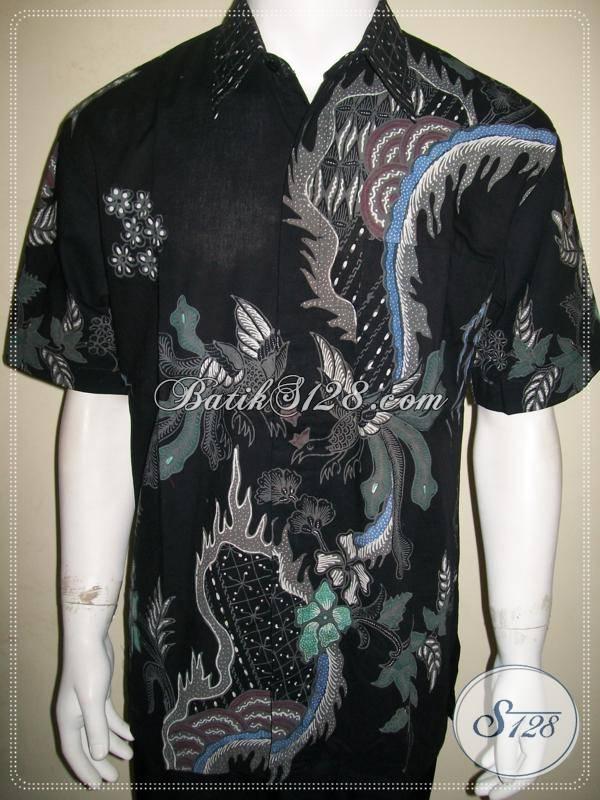 Baju Batik Tulis Online Batik Pria Warna Hitam Ukuran L