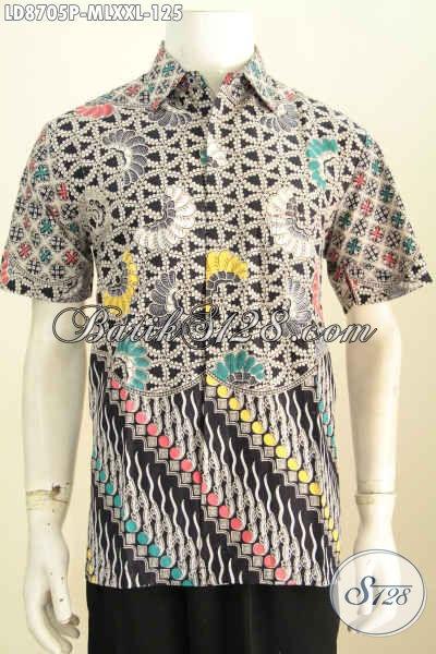 SERAGAM BATIK Batik Pria Baju Batik Kombinasi Batik Kantor 723f41b624