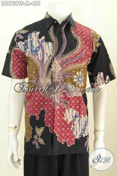 Jual Online Baju Batik Solo Istimewa, Busana Batik Modis Halus Proses Tulis Motif Keren Abis Daleman Full Furing Model Lengan Pendek 400 Ribuan [LD8739TF-M]