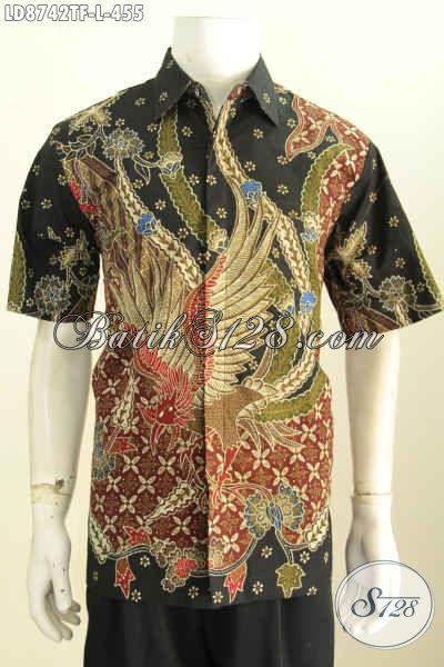 Hem Batik Halus Lengan Pendek Premium, Kemeja Batik Jawa Etnik Full Furing Kwalitas Istimewa Harga 455K, Size L