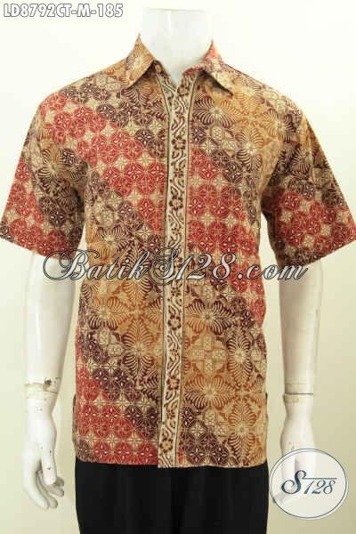 Model Pakaian Batik Pria 2017, Hadir Dengan Desain Modis Dan Trendy Berpadu Motif Elegan Mewah Proses Cap Tulis Harga 100 Ribuan Saja [LD8792CT-M]