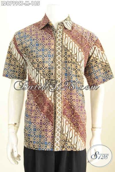 Agen Batik Hem Modern Untuk Pria Muda, Jual Busana Batik Modis Motif Trendy Dan Etnik, Penampilan Lebih Istimewa [LD8799CT-M]