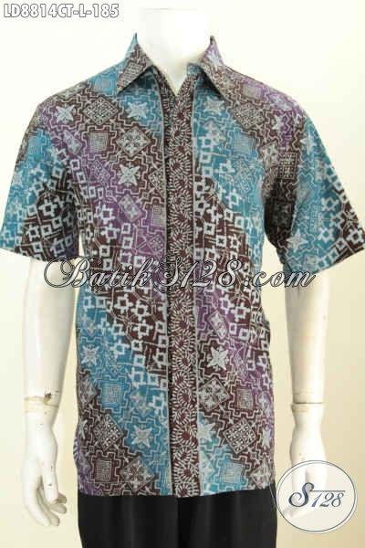 Kemeja Batik Kerja Cowok, Hem Batik Santai Desain Modis Dan Bagus, Bikin Penampilan Lebih Rapia Dan Gaya [LD8814CT-L]