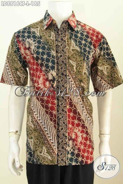 Model Baju Batik Pria Terbaru 2017 Kemeja Lengan Pendek Keren Dan