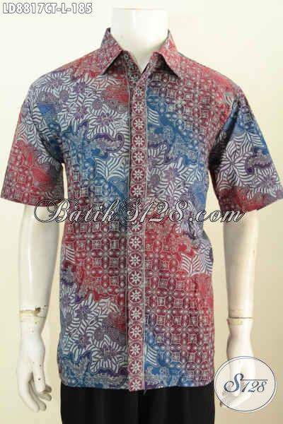 Jual Hem Batik Fashion Untuk Pria Muda Dan Dewasa Menunjang Penampilan Lebih Berkelas Dan Gagah Harga 185K Proses Cap Tulis [LD8817CT-L]