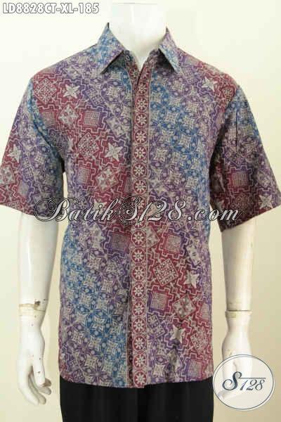 Model Baju Batik Elegan Pria Gaul, Pakaian Batik Berkelas Buatan Solo Eksklusif Untuk Pria Dewasa Karir Aktif Tampil Lebih Menawan, Proses Cap Tulis Harga 185K [LD8828CT-XL]