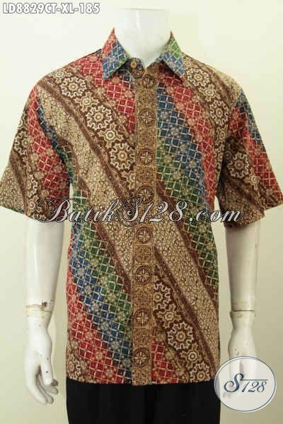 Agen Baju Batik Online, Jual Produk Pakaian Batik Pria Terkini, Hadir Dengan Model Kekinian Yang Bikin Penampilan Lebih Gagah Dan Keren, Size XL