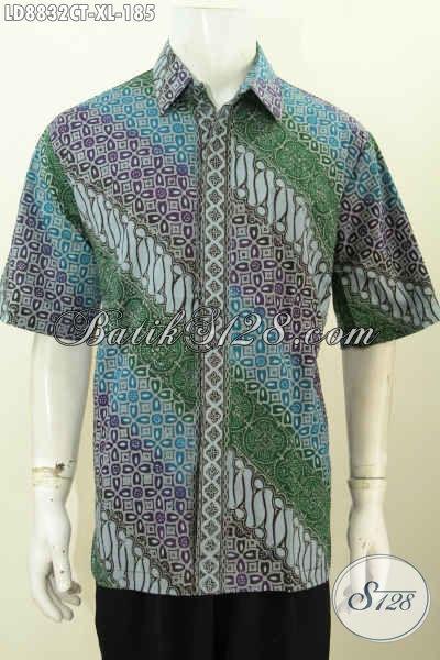 Koleksi Baju Batik Pria Modern, Hadir Dengan Model Terbaru Bagus Dan Berkelas, Bahan Halus Motif Trendy Proses Cap Tulis, Penampilan Lebih Mempesona [LD8832CT-XL]