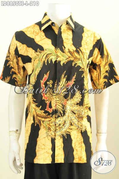 Toko Baju Batik Online Paling Lengkap, Sedia Hem Lengan Pendek Istimewa Motif Bagus Tulis Soga Harga 210K, Size L