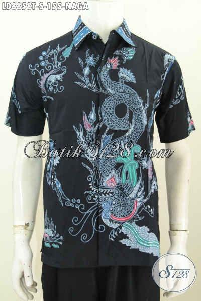 Sedia Hem Batik Motif Naga Proses Tulis Hanya 155K, Baju Batik Keren Bikin Pria Terlihat Gagah [LD8858T-S]