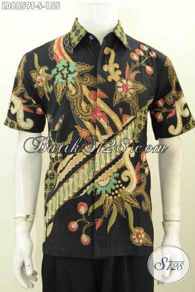 Hem Batik Remaja Pria, Kemeja Batik Anak Kuliahan, Pakaian Batik Modis Masa Kini Pilihan Komplit, Size S