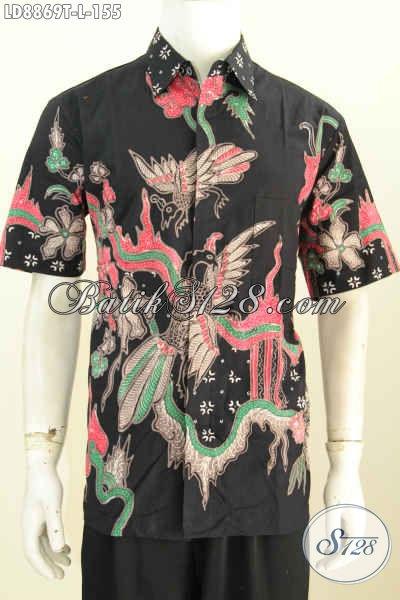 Sedia Hem Batik Kerja Pria Terkini, Baju Batik Modis Desain 2017 Untuk Tampil Gagah Proses Tulis Hanya 100 Ribuan, Size L